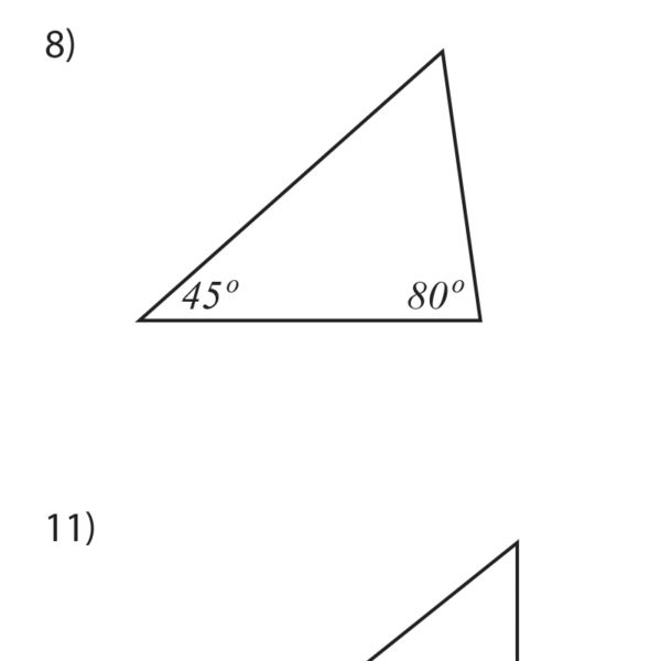 Angles in Triangles Worksheet